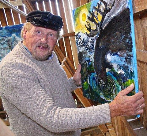 Produktiv: Tida på hytta til kunstnerkollega Geir Børresen, resulterte i flere malerier inspirert av naturen i Valdres for Øivind Jorfald.