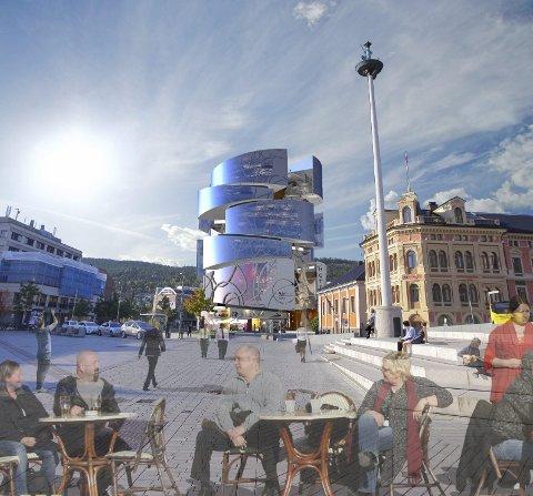 TELLUS:  Slik så de forrige planene ut, den gang var tanken å rive Globusgården og bygge hotell.