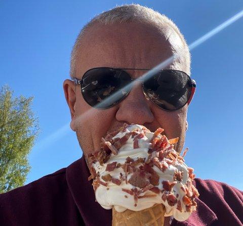 """""""BACONKONGEN"""": Egil Langemyr er over gjennomsnittet glad i bacon."""