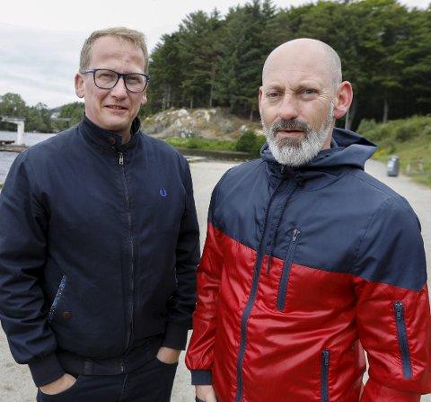 AVLYST:  - Vi tilbyr publikum å bruke årets billetter til 2021-festival i Vangen. Vi satser på at mange av artistene som skulle spilt hos oss i august, blir med videre , sier  styreleder Henry Røthing. (til v.) Her med festivalsjef Steinar Liadal.