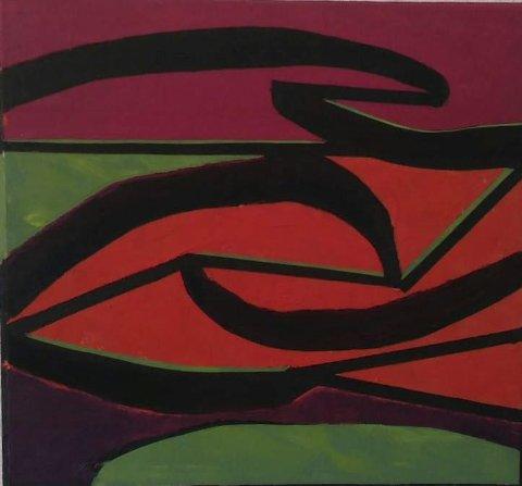 Malerier: Sterke farger og tydelige linjer preger Knut Larsens nyere bilder.