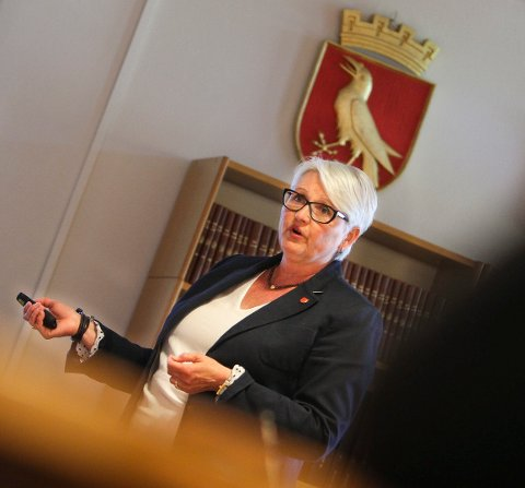 TALL: Rådmann Bente Hedum la fram 1. tertialrapport for Moss kommune tirsdag.