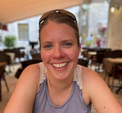 FULL TIMEPLAN: Anniken Fleischer Bristol har det som regel travelt, men det blir heldigvis tid til en pust i bakken en gang i blant.