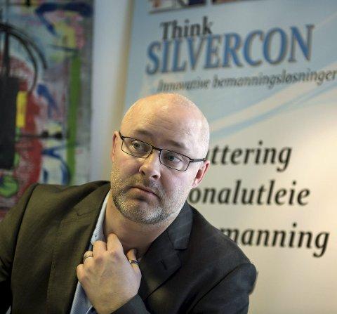 – VANSKELIG VALG: Christian Skou har bygget opp bemanningsbyrået Silvercon AS. Nå vurderer han å selge.
