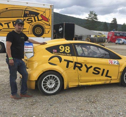 FOR EN DEBUTSESONG: Stein Frederic Akre kjører sin første sesong med rallycross. Det endte med A-finale under VM-runden i Höljes i helga.