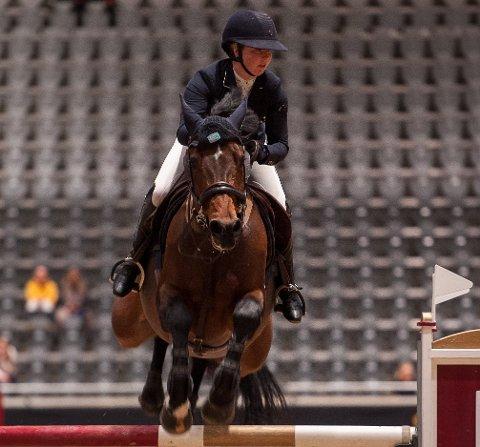 GOD START: Benedikte Serigstad Endresen åpnet Oslo Horseshow med to seire.