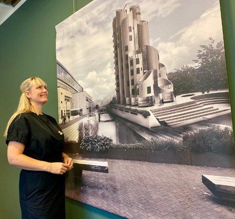 EKSAMEN: Anita Brekke har brukt eksamensoppgaven sin som arkitekt til å transformere kornsiloene i Sandnes sentrum.
