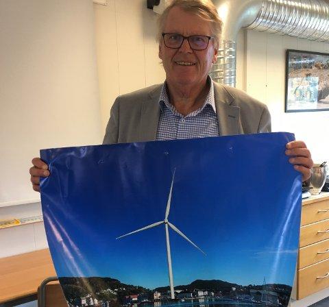 VINDKRAFT: – Nå styrkes sjansene for at Flekkefjord kommune får det som den vil, sier Hans Fredrik Grøvan.