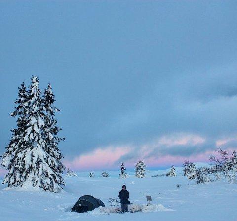 KOSELIG: Vintertelttur. Dette leserbildet er sendt inn til GD med #gdbilder.