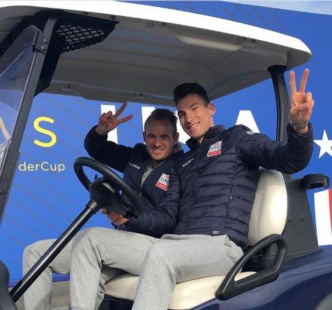 GODE KOMPISER: Helt siden Sven Erik Bystrøm (foran) ble proff i 2015, har han syklet på samme lag som Alexander Kristoff. Duoen har også samme agent og trener sammen i Stavanger.
