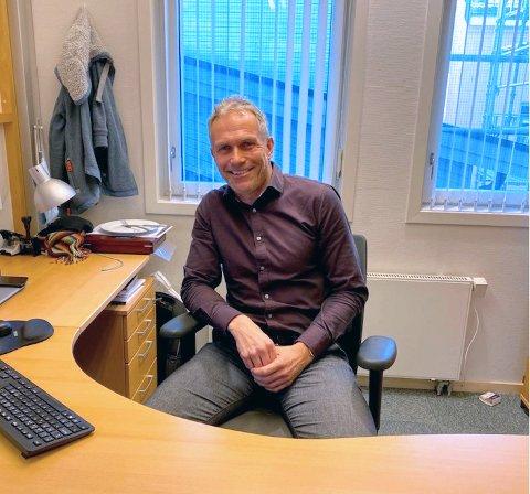 FORNØYD: André Horntvedt er daglig leder i SpareBank 1 Regnskapshuset BV, som skal kjøpe Regnskapsdata Kongsberg.