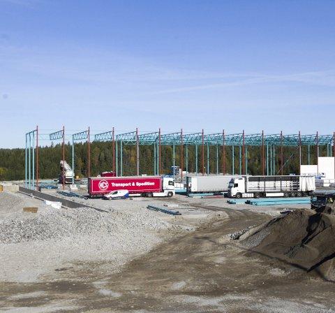 Romslig: Elektroskandia får godt med boltreplass i sitt nye sentrallager. Foto: Bjørn V. Sandness