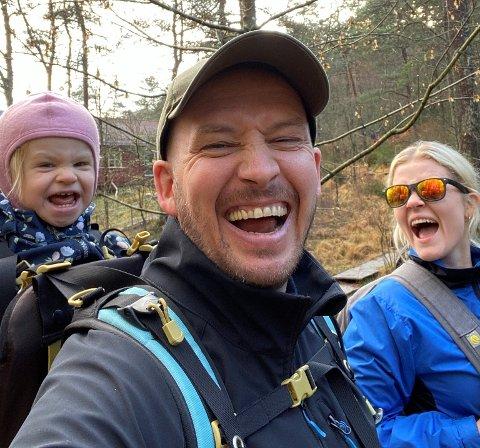 TIL LARVIK: Glenn Ruben, Trine og lille Noelle flytter til Larvik og gleder seg til det.