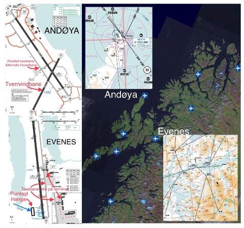 En kikk på kart og topografi burde være nok til å avgjøre en lokaliseringsdebatt. Andøya ligger nærmere området som skal overvåkes, har masse albuerom, er overlegen operasjonsmessig, har allerede fagmiljøet og fasiliteter i fleng.