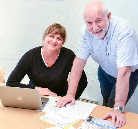 INNKJØP: Prosjektleder Cecilie Møller Endresen og regiondirektør Per Steinar Jensen, begge NHO Buskerud, vil ha flere lokale leverandører til det offentlige.