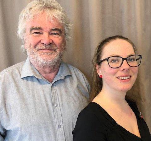 Helge Sveen og Sunniva Berg erskuespillerne i det  nyskrevne stykket om fagbevegelsens kamp for åtte timers-dag.
