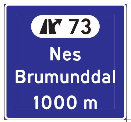 De eksisterende forvarseltavlene der det bare står Brumunddal, blir erstattet med disse langs E6. Totalt 8-9 nye skilt skal opp.