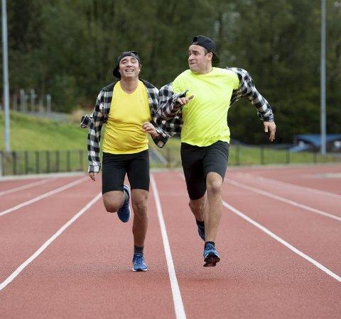 60 meteren: – Jeg måtte nesten la Kurt vinne, ellers hadde dagen vært ødelagt. Veldig dårlig taper, sier Ronnie. Foto: Arne Ristesund