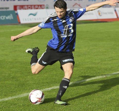 UTE: Ein stiv rygg var grunnen til at Kristoffer Ryland ikkje spelte mot Aalesund søndag.