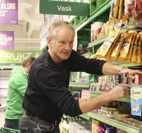 SJEFEN: Det ble ikke noen rekord-påske på Kiwi-kjøpmann Jørn Håkenstad.