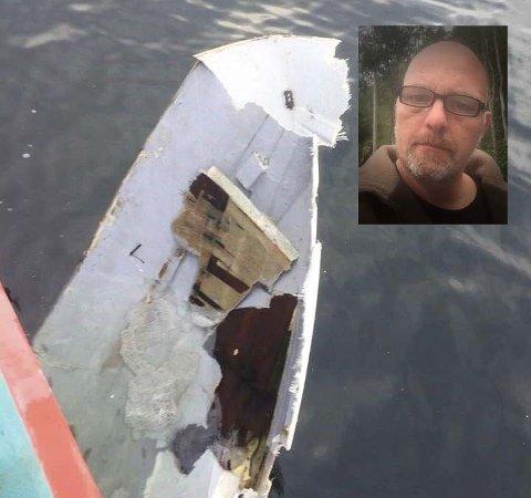 – Det smalt og ristet skikkelig. Jeg mistet balansen og ble nesten slengt i veggen, forteller Frank Rune Helland.