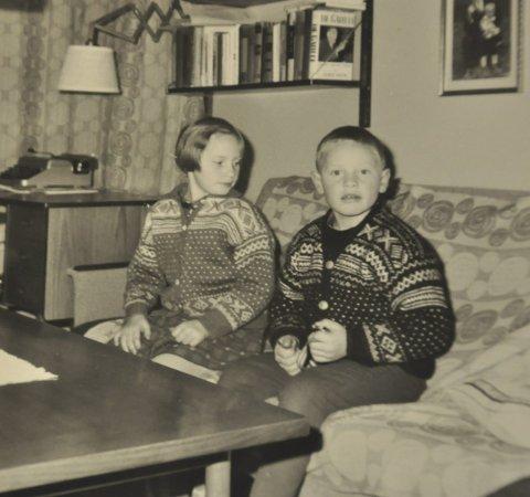 Barna: Det var ingen enkel sak å vokse opp i et kunstnerhjem. Her er Benedicte 10 år og Kjell Uno 8 år.