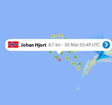 """SKREITOKT: """"Johan Hjort"""" går i et spesielt mønster når de skal foreta registreringer."""