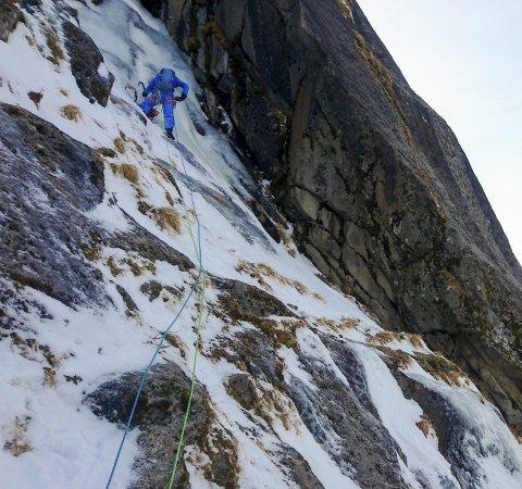 FLOTT: – Det var ei veldig flott rute. Med mye is, hard snø og frossen mose, sier Signar Nilsen.
