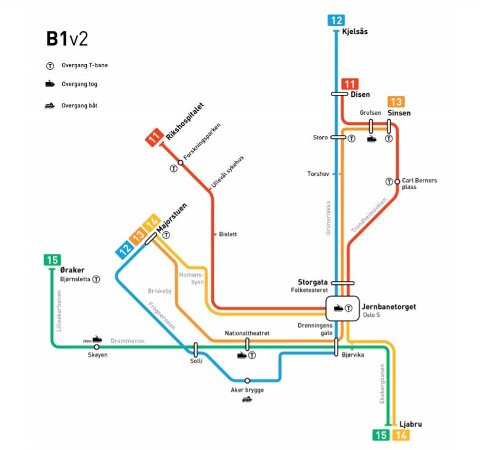 2024: Slik planlegger Ruter at Oslos linjekart kan se ut innen få år.