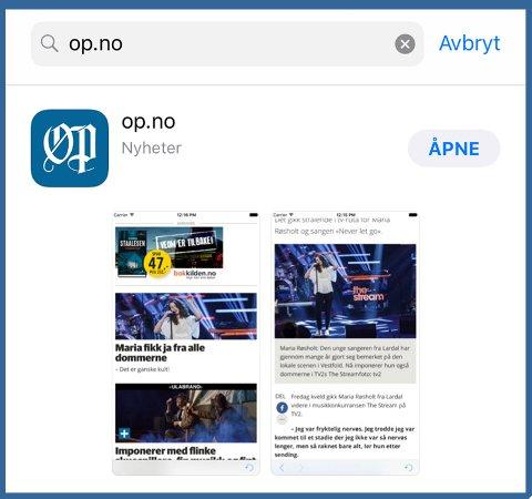SISTE NYTT: Med op.no-appen er du alltid oppdatert med siste nytt.