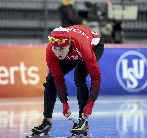 SESONGÅPNING: Ole Bjørnsmoen Næss går de to lengste distansene under NM enkeltdistanser i Bjugn denne helgen. Landslagsløperen føler seg sterkere enn på samme tid i fjor.Foto: Anita Høiby Gotehus