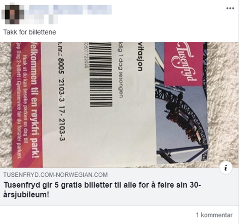 SVINDEL: Slik ser den falske Facebook-posten ut.