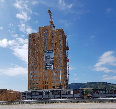 Mjøstårnet i Brumunddal - 81 meter, 18 etasjer og med det verdens høyeste trehus - er tegnet av Voll Arkitekter og kristiansunderen Øystein Elgsaas.