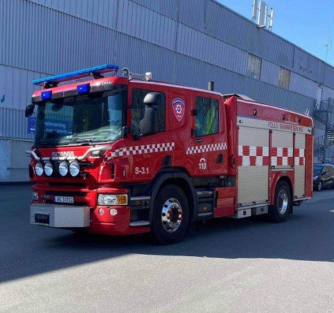 RYKKET UT: Brannvesenet rykket ut til Drøbak City.