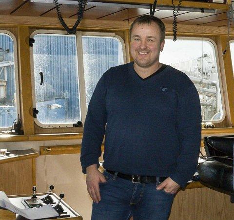 UROLIG: Anders Klovning som er skipper på MS «Vikingbank» sover om natten, enn så lenge.