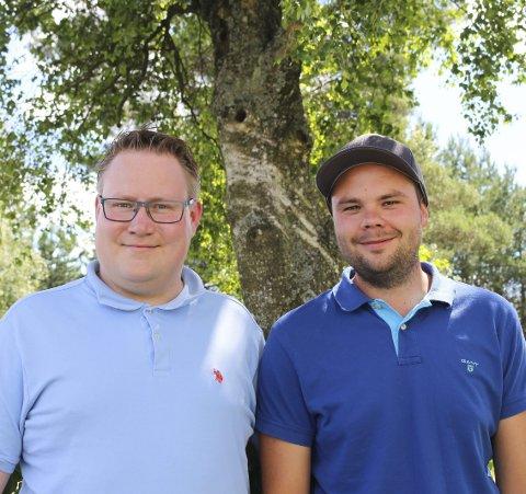 Fosterforeldre: Christian Granli (29) og Ole André Østmark (29) har vært fosterforeldre i to år.
