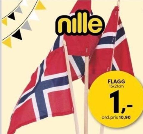 Også hos Nille får du superbillig flagg.