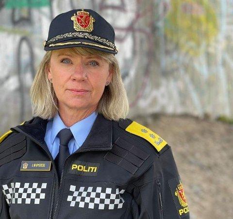 IKKE FORNØYD: Politimester Ida Melbo Øystese i Politiet Øst er ikke fornøyd med hvordan 17. maihelgen forløp. Nå ber hun foreldre til unge komme på banen før vi igjen går inn i en langhelg.