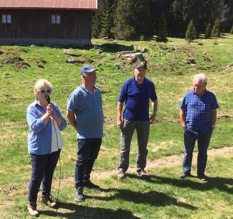 Guider Per Bekkevoll, Leif M Koch, Torleiv Johnsrud og leder Gerd Anita Fjeldstad