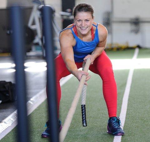NORGESMESTER: Vigdis Wicklund er Norges ferskeste norgesmester. Hun vant NM-gull i «funksjonell fitness».