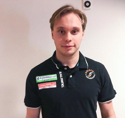 FIKK KONTRAKT: Marius Rossfjord (18) har fått elitekontrakt med Halden Topphåndball.