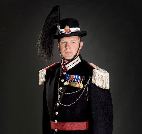 GARDESJEF: Vegard Flom fra Kongsberg har overtatt som gardesjef.