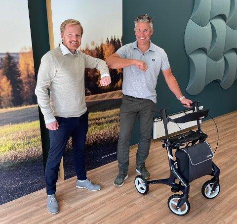 SAMARBEID: Halvor Wold fra Assitech AS og Asbjørn Eskild i Topro blir partnere når Topro har kjøpt opp firmaet.