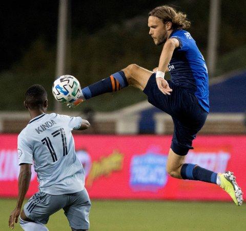 BALLSIKKER: Her er Tom Pettersson i aksjon for FC Cincinnati mot Sporting Kansas City i MLS i oktober i fjor. Nå kan han bli LSK-spiller.