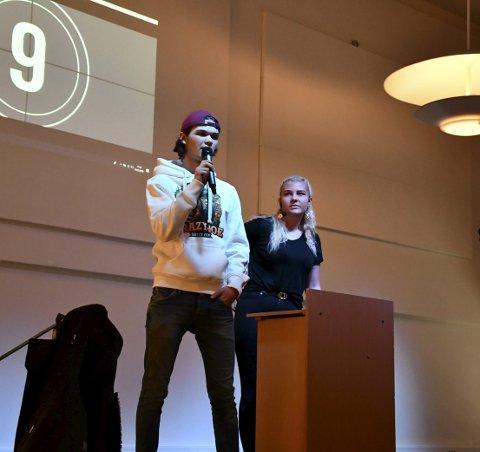 Russepresident og prest 2019: Alekxander Aabel Wøllo og Tyra Håheim Grisbeck. ALLE FOTO: iNGUNN HÅKESTAD BRÅTHEN