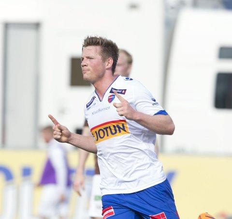 SCORET PÅ BESTILLING: Pål Alexander Kirkevold spilte for SF i 2014 og 2015. Det resulterte i over 25 mål på halvannen sesong, før han ble solgt til Hobro i Danmark. Nå kan det være klart for en SF-retur.