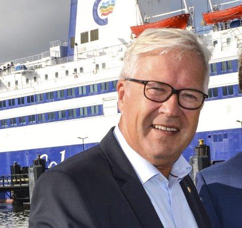 KRITISK: Helge Otto Mathisen i Color Line ser ikke den store verdien i en godsterminal i Larvik - i hvert fall ikke for godset som kommer med Superspeed.