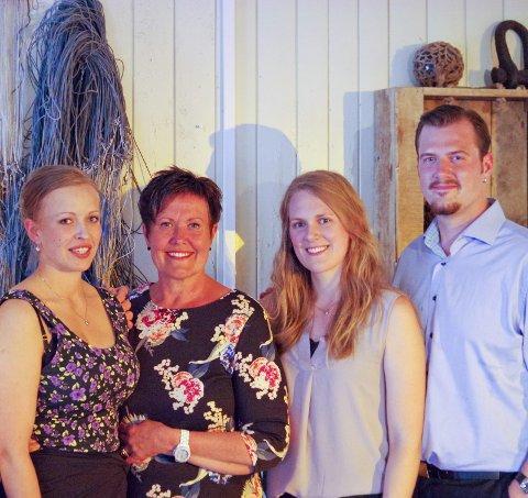 Sang:  Maria Nohr, Rita Nohr, Ida Løvli Hidle og Aleksander Nohr inviterer til operakvelder nå i helgen.Pressefoto