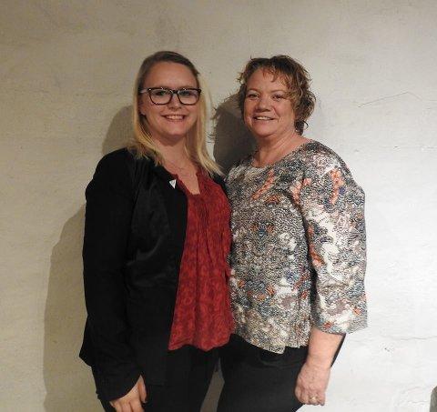 Camilla Sørensen Eidsvold (t.h.) og Silje Louise Waters er henholdsvis nummer 1 og 2 på SV Fredrikstads kommunevalgsliste for 2019. (Foto: Facebook/Fredrikstad SV)