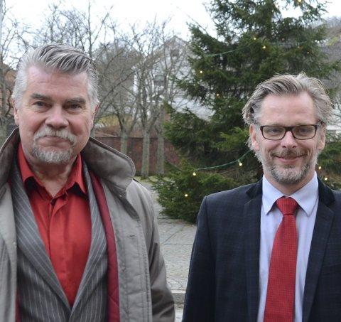 28 år samanhengande: Terje Kollbotn (Raudt) og Gard Folkvord (Ap). Arkivfoto: Ernst Olsen